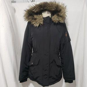 Banana Republic Warm coat Jacket Hooded Faux Fur M